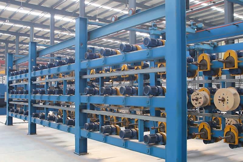 توسيع FUDA،  تثبيت مجموعة واحدة من خط إنتاج أسلاك الفولاذ 1.8MX15.6M